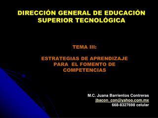 TEMA III:   ESTRATEGIAS DE APRENDIZAJE  PARA  EL FOMENTO DE COMPETENCIAS