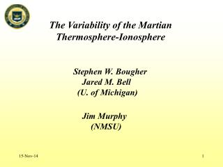 The Variability of the Martian Thermosphere-Ionosphere