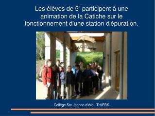 Collège Ste Jeanne d'Arc - THIERS