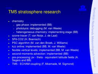 TM5 stratosphere research