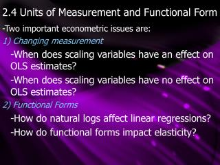 2.4 Units of Measurement and Functional Form