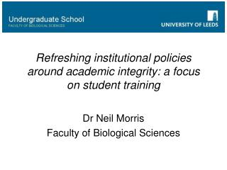 Refreshing institutional policies around academic integrity: a focus on student training