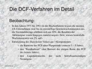 Die DCF-Verfahren im Detail