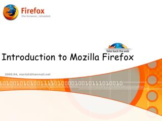 Introduction to Mozilla Firefox