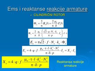 Ems i reaktanse  reakcije armature