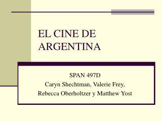 EL CINE DE ARGENTINA