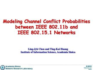 Modeling Channel Conflict Probabilities between IEEE 802.11b and  IEEE 802.15.1 Networks