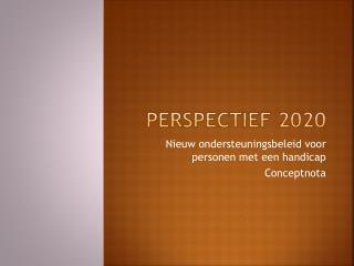 Perspectief 2020