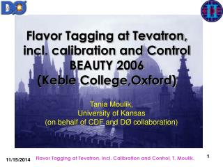 Flavor Tagging at Tevatron, incl. calibration and Control BEAUTY 2006  (Keble College,Oxford)