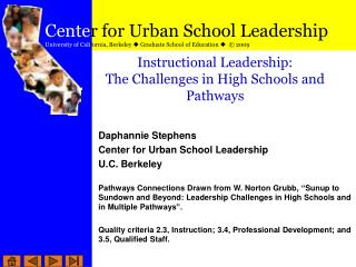 Instructional Leadership: The Challenges in High Schools and Pathways
