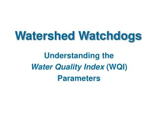 Watershed Watchdogs