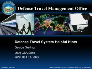 Defense Travel System Helpful Hints