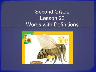 Second Grade Lesson 23 Words with Definitions