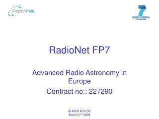 RadioNet FP7