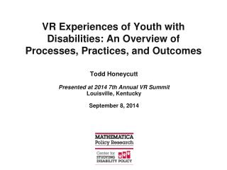 VR Experiences of Youth with Disabilities: An Overview of Processes, Practices, and Outcomes
