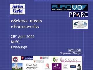 eScience meets  eFrameworks