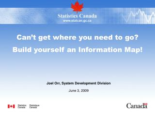 Can't get where you need to go?   Build yourself an Information Map!