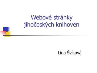 Webové stránky  jihočeských knihoven