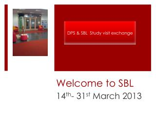 Welcome to SBL