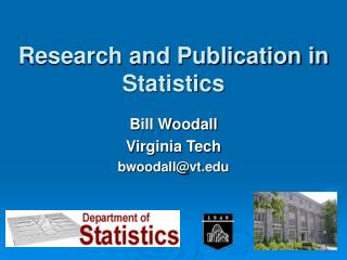 Research and Publication in Statistics