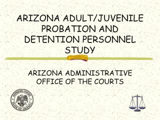 ARIZONA ADULT/JUVENILE PROBATION AND DETENTION PERSONNEL STUDY