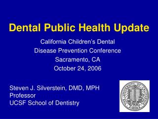 Dental Public Health Update