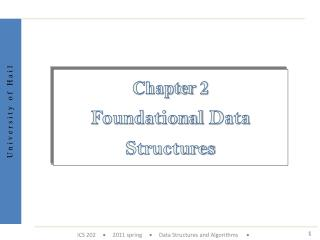 Chapter 2 Foundational Data Structures
