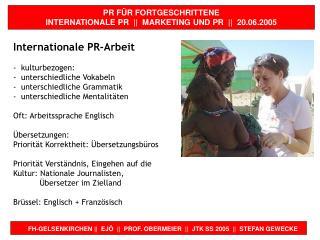 FH-GELSENKIRCHEN ||  EJÖ  ||  PROF. OBERMEIER  ||  JTK SS 2005  ||  STEFAN GEWECKE