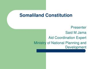 Somaliland Constitution