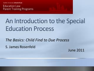 An Introduction to the Special Education Process