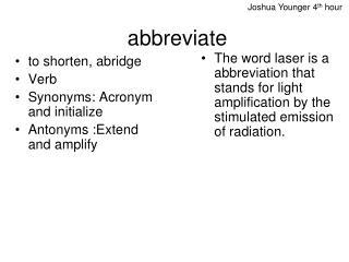 abbreviate