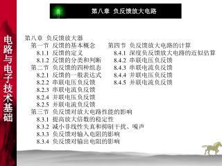 第八章  负反馈放大器     第一节  反馈的基本概念 8.1.1   反馈的定义 8.1.2   反馈的分类和判断     第二节  负反馈的四种组态 8.2.1   反馈的一般表达式