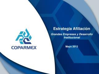 Estrategia Afiliaci ón Grandes Empresas y Desarrollo Institucional Mayo 2012