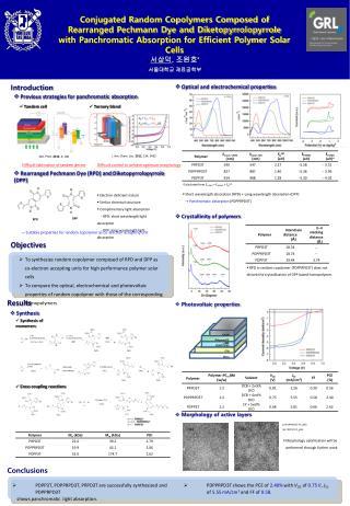 Conjugated Random Copolymers Composed of  Rearranged Pechmann Dye and Diketopyrrolopyrrole