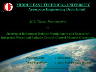 M.S. Thesis Presentation on