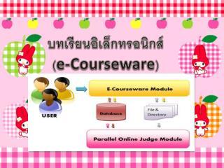 บทเรียนอิเล็กทรอนิกส์  ( e-Courseware )