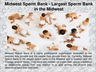 Midwest Sperm Bank - Largest Sperm Bank in the Midwest