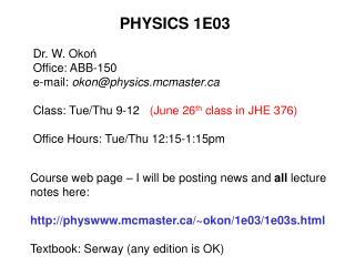 PHYSICS 1E03