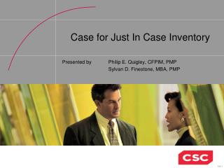 Case for Just In Case Inventory