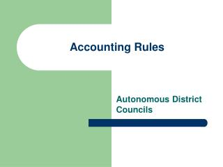 Accounting Rules