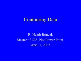 Contouring Data