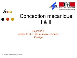 Conception m�canique  I & II