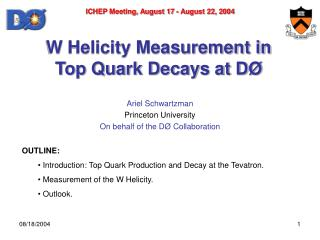 W Helicity Measurement in  Top Quark Decays at D Ø