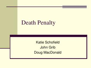 an overview of the principles of the death penality G) the death penalty we believe the death penalty denies the power of christ to redeem, restore, and transform all human beings the united methodist church is deeply concerned about crime throughout the world and the value of any life taken by a murder or homicide.