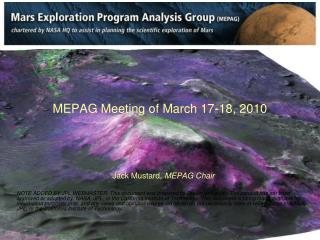 MEPAG Meeting of March 17-18, 2010