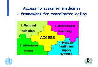Access to essential medicines  - framework for coordinated action