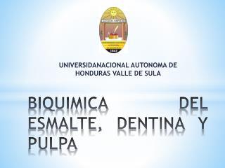 BIQUIMICA DEL ESMALTE, DENTINA Y PULPA