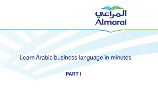 Learn Arabic business language in minutes