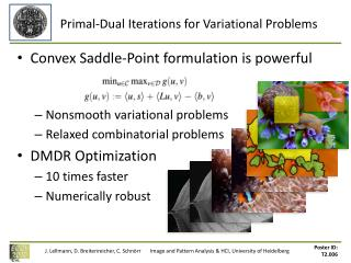 Primal-Dual Iterations for Variational Problems
