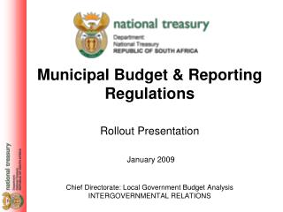 Municipal Budget & Reporting Regulations